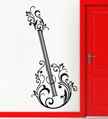 compare prices on rock music guitar online shopping buy low price guitar floral music rock roll positive mural wall art decor vinyl sticker china mainland