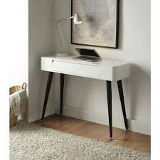 white simple desk 4d concepts white and black desk 124904 the home depot