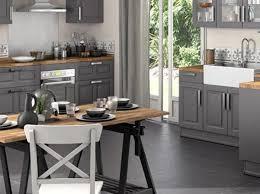 comptoir cuisine bois carrelage de sol en céramique blanche polie comptoir cuisine bois