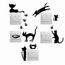 Decoration Cat Wall Decals Home by Cat Wall Stickers Bedroom Promotion Shop For Promotional Cat Wall
