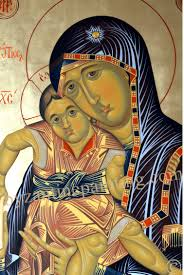 Painting Icon Panagia Portaitissa Painted Icon Byzantine Icon Painting