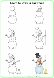 learn to draw a snowman drawing pinterest snowman learning