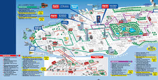 Nyc Maps Map Nyc Attractions Opt With Manhattan Of World Maps Striking