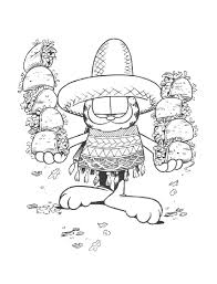 mexican coloring pages coloring page garfield mexico coloring me