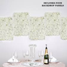 4 pcs cream silk hydrangea flower mat wall backdrop photography