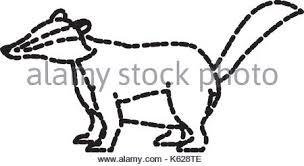 black white cartoon illustration safari wild animal