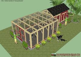 chicken coop and run layout with basic chicken house plans 6077