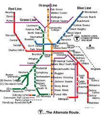 map of boston subway satallite map of the mbta the t in boston subway system
