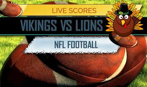vikings vs lions score thanksgiving football schedule