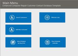microsoft access enhanced customer contact database template