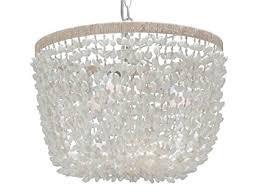 Seashell Light Fixtures Kouboo Inverted Pendant L Seashell White Ceiling