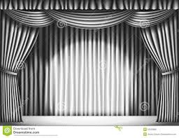 Black Stage Curtains For Sale White Stage Curtain Background Stock Illustration Image 47002245