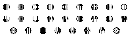monogramed letters fonts colors patterns my capital letters