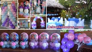 Sofia Decorations Disney Frozen U0026 Sofia The First Balloon Decoration With Party