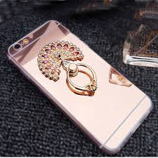 metal cat ring holder images Girl makeup mirror case for iphone 5 5s diamond metal ring holder jpg
