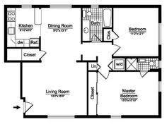 Tiny House Single Floor Plans  Bedrooms Bedroom House Plans - Two bedroom house design