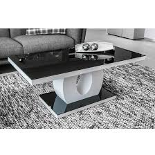 black and glass coffee table roselle glass coffee table in black and high gloss white