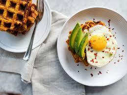 savory sweet potato waffles recipe cooking light