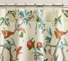 Shower Curtains With Birds Palampore Organic Shower Curtain Pottery Barn