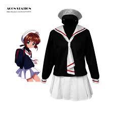 Sakura Halloween Costume Cheap Sakura Cardcaptor Winter Uniform Aliexpress
