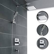 Contemporary Bathtub Faucets Brass Tub Shower Faucet With 8 Inch Shower Head And Hand Shower