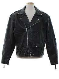 classic motorcycle jacket eighties vintage leather jacket late 80s or early 90s wilsons