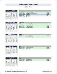 8 event schedule template weeklyplanner website