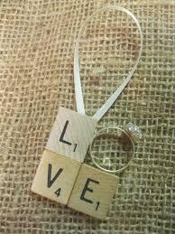 scrabble tile engagement ring ornament just