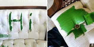 peinture pour tissu canapé peinture tissu canape peindre meuble2 quelle peinture pour tissu