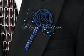 blue boutonniere wedding groom accessory cobalt blue boutonniere by ruby blooms