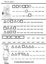 shapes worksheets and downloads u2013 lessonsense com