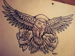 43 best flying owl tattoo outline images on pinterest owl