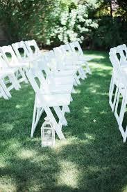 summer backyard wedding ceremony lace dress modest wedding