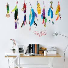 wall stickers flying promotion shop for promotional wall stickers creative feather wall sticker vinyl dream flying feather for living home decal art poster decoration