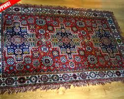 vintage area rug 5x8 etsy