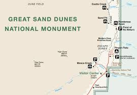 Colorado National Parks Map by Exploration Great Sand Dunes National Park U2013 Environmental