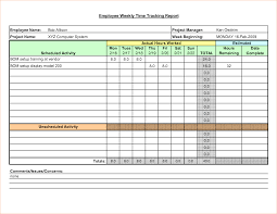 Excel Project Management Tracking Templates by Template Sample Project Weekly Time Tracking Employee By Bhp11165