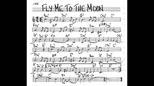 fly me to the moon play along backing track 3 4 c key
