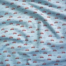 light blue jersey fabric little cars sky blue jersey fabric guthrie ghani