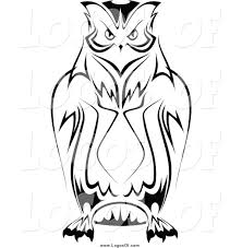 clipart owl black and white vector clipart of a black and white owl logo by vector tradition