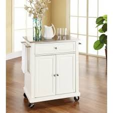 kitchen island cart with stainless steel top stainless steel top portable kitchen island cart in white finish