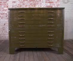 Vintage Industrial File Cabinet Sideboard Vintage Industrial Metal Flat File Cabinet At 1stdibs