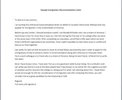 ideas collection immigration recommendation letter for a family