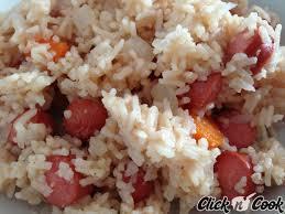 riz cuisiné riz pilaf aux saucisses knacki cuisiné dans le cookeo cookeo