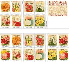 vintage seed packets postal service ushers in with vintage seed packets