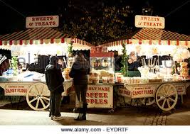 food stall at hyde park s winter uk stock