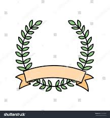 lovely romantic illustrations laurel wreath template stock vector