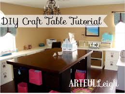 artful leigh diy craft table tutorial my home inspiration