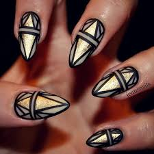 glamorous black and gold nail designs gold nails black gold and