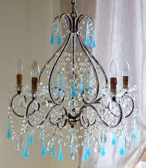 Bird Cage Chandelier Italian Vintage 9 Arms Chandelier With Rare Shaped Crystals